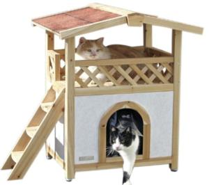 outdoor katzenhaus für 2 katzen