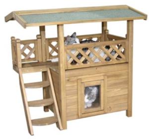 Katzen Lodge mit Terrasse